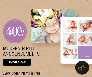40% off Paper Culture Birth Announcements